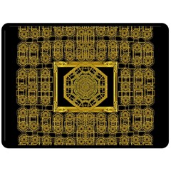 Beautiful Stars Would Be In Gold Frames Double Sided Fleece Blanket (large)  by pepitasart