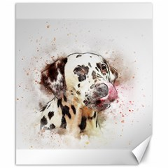 Dog Portrait Pet Art Abstract Canvas 8  X 10  by Celenk