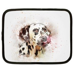 Dog Portrait Pet Art Abstract Netbook Case (large) by Celenk