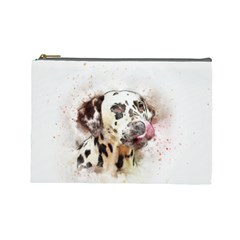 Dog Portrait Pet Art Abstract Cosmetic Bag (large)