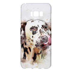 Dog Portrait Pet Art Abstract Samsung Galaxy S8 Plus Hardshell Case  by Celenk