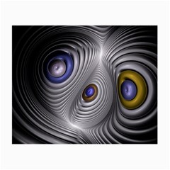 Fractal Silver Warp Pattern Small Glasses Cloth