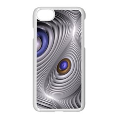 Fractal Silver Warp Pattern Apple Iphone 7 Seamless Case (white)