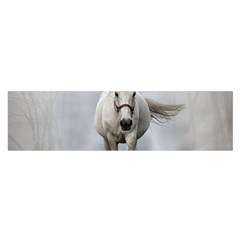 Horse Mammal White Horse Animal Satin Scarf (oblong) by Celenk
