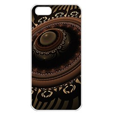Fractal Stripes Abstract Pattern Apple Iphone 5 Seamless Case (white) by Celenk