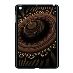 Fractal Stripes Abstract Pattern Apple Ipad Mini Case (black)