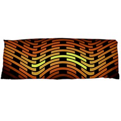 Fractal Orange Texture Waves Body Pillow Case Dakimakura (two Sides) by Celenk