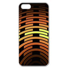Fractal Orange Texture Waves Apple Seamless Iphone 5 Case (clear)