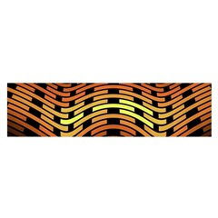 Fractal Orange Texture Waves Satin Scarf (oblong) by Celenk