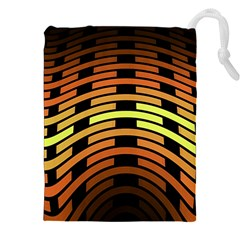 Fractal Orange Texture Waves Drawstring Pouches (xxl) by Celenk