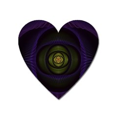 Fractal Blue Eye Fantasy 3d Heart Magnet