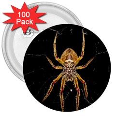 Nsect Macro Spider Colombia 3  Buttons (100 Pack)  by Celenk