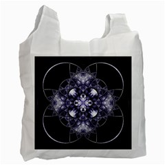 Fractal Blue Denim Stained Glass Recycle Bag (two Side)  by Celenk