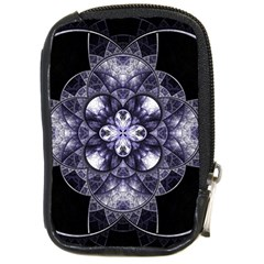 Fractal Blue Denim Stained Glass Compact Camera Cases