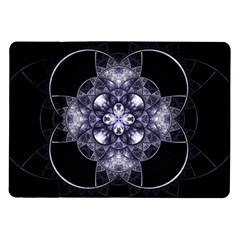 Fractal Blue Denim Stained Glass Samsung Galaxy Tab 10 1  P7500 Flip Case by Celenk