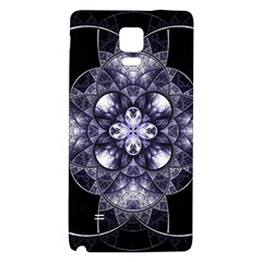 Fractal Blue Denim Stained Glass Galaxy Note 4 Back Case by Celenk