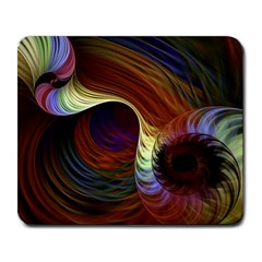 Fractal Colorful Rainbow Flowing Large Mousepads