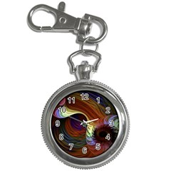 Fractal Colorful Rainbow Flowing Key Chain Watches