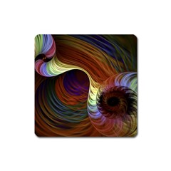 Fractal Colorful Rainbow Flowing Square Magnet