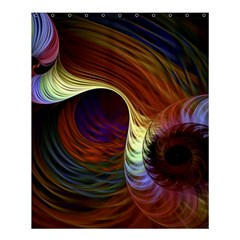 Fractal Colorful Rainbow Flowing Shower Curtain 60  X 72  (medium)  by Celenk