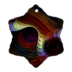 Fractal Colorful Rainbow Flowing Ornament (snowflake) by Celenk