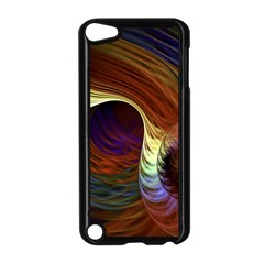 Fractal Colorful Rainbow Flowing Apple Ipod Touch 5 Case (black) by Celenk