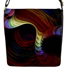 Fractal Colorful Rainbow Flowing Flap Messenger Bag (s) by Celenk