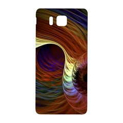 Fractal Colorful Rainbow Flowing Samsung Galaxy Alpha Hardshell Back Case by Celenk