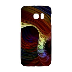 Fractal Colorful Rainbow Flowing Galaxy S6 Edge by Celenk