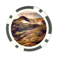 Iceland Mountains Sky Clouds Poker Chip Card Guard (10 Pack)