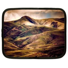 Iceland Mountains Sky Clouds Netbook Case (xl)  by Celenk