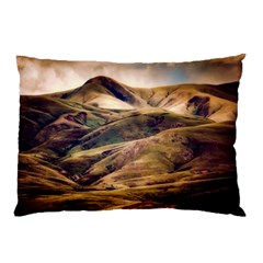 Iceland Mountains Sky Clouds Pillow Case (two Sides)