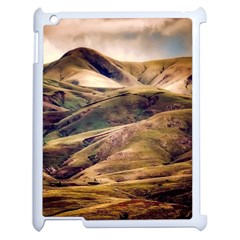 Iceland Mountains Sky Clouds Apple Ipad 2 Case (white) by Celenk