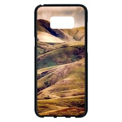 Iceland Mountains Sky Clouds Samsung Galaxy S8 Plus Black Seamless Case by Celenk