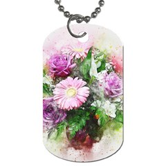 Flowers Roses Bouquet Art Nature Dog Tag (two Sides)