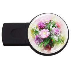 Flowers Roses Bouquet Art Nature Usb Flash Drive Round (2 Gb)