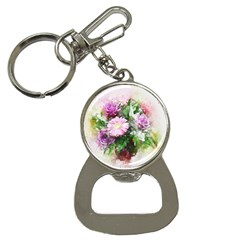 Flowers Roses Bouquet Art Nature Button Necklaces by Celenk