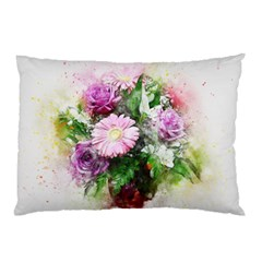 Flowers Roses Bouquet Art Nature Pillow Case (two Sides)