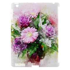 Flowers Roses Bouquet Art Nature Apple Ipad 3/4 Hardshell Case (compatible With Smart Cover) by Celenk