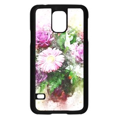 Flowers Roses Bouquet Art Nature Samsung Galaxy S5 Case (black) by Celenk