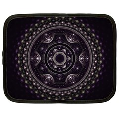 Fractal Mandala Circles Purple Netbook Case (xxl)