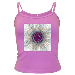 Mandala Kaleidoscope Ornament Dark Spaghetti Tank by Celenk
