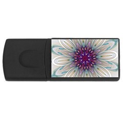 Mandala Kaleidoscope Ornament Rectangular Usb Flash Drive
