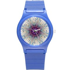 Mandala Kaleidoscope Ornament Round Plastic Sport Watch (s)