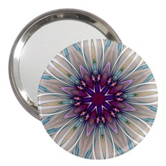 Mandala Kaleidoscope Ornament 3  Handbag Mirrors