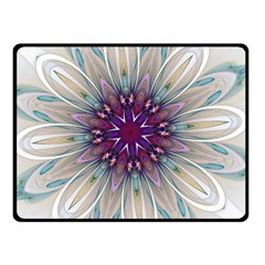 Mandala Kaleidoscope Ornament Double Sided Fleece Blanket (small)