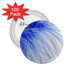Spring Blue Colored 2 25  Buttons (100 Pack)