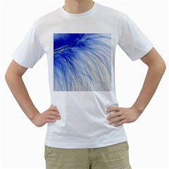 Spring Blue Colored Men s T Shirt (white) (two Sided)
