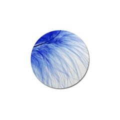 Spring Blue Colored Golf Ball Marker by Celenk