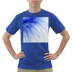 Spring Blue Colored Dark T Shirt